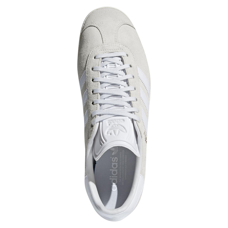 Details about adidas ORIGINALS MEN'S GAZELLE TRAINER WHITE SNEAKERS SHOES SMART CASUAL RETRO