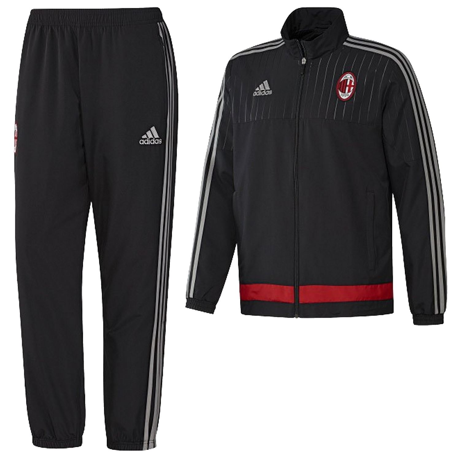 adidas ac milan pr sentation sportanzug gr e xs s. Black Bedroom Furniture Sets. Home Design Ideas