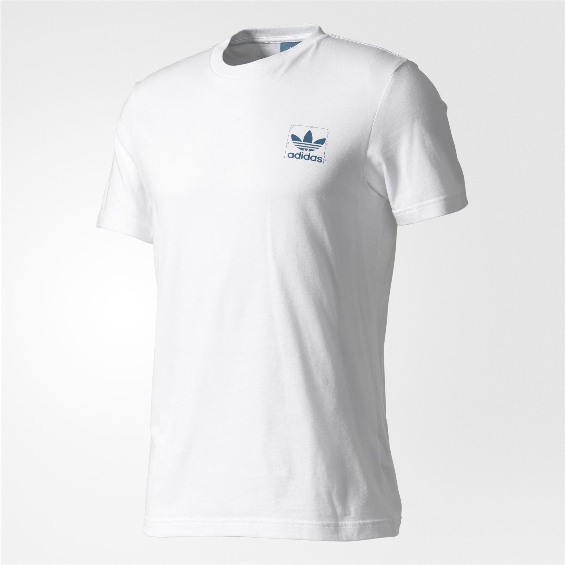 89e995f81018ea Details about adidas ORIGINALS STANDARD T SHIRT WHITE TREFOIL TEE TOP  SUMMER MEN S COTTON NEW