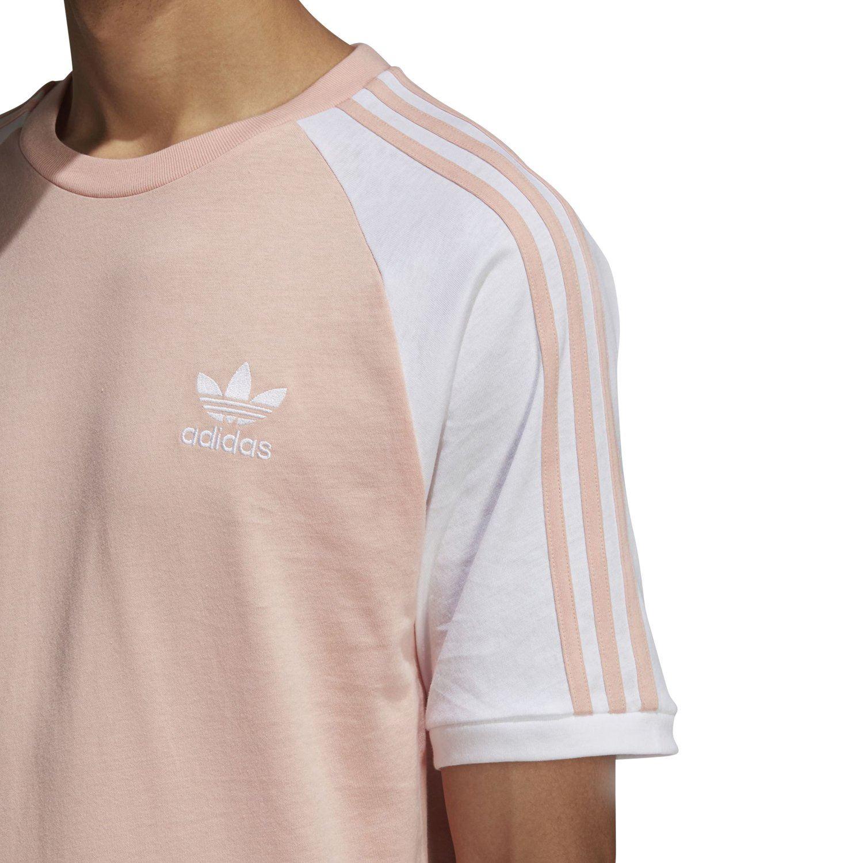 Homme RétroEbay T Trèfle Bandes Shirt Rose Originaux 3 Adidas Mode EH9D2I