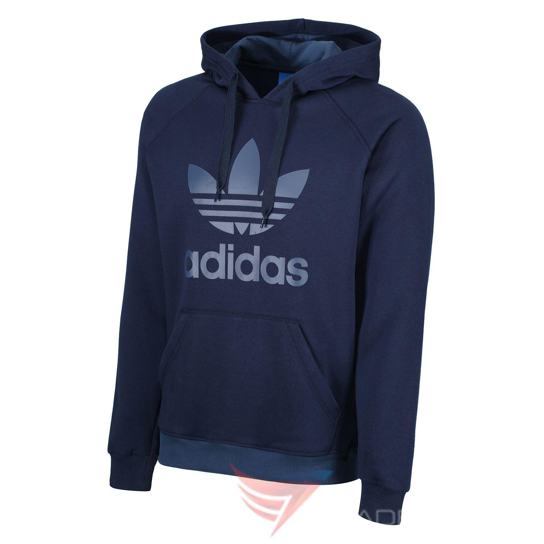 Adidas Originaux Trèfle Capuche Bleu Marine Noir Gris Pull à Capuche ... 07c1c09e5a96