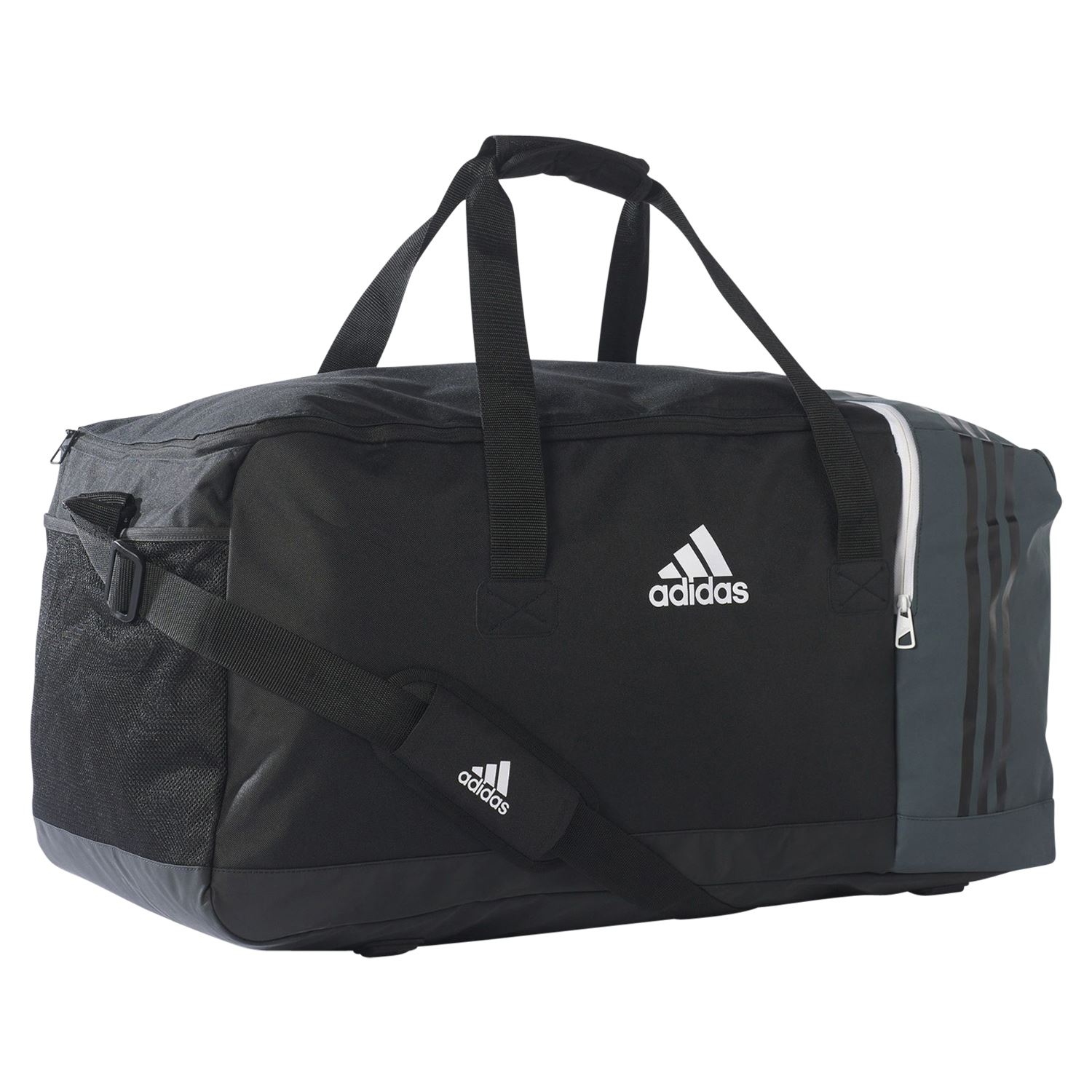 300d9e793f53 Details about adidas ESSENTIALS TIRO TEAM BAG LARGE BLACK GREY FOOTBALL  HOLDALL TRAINING GYM