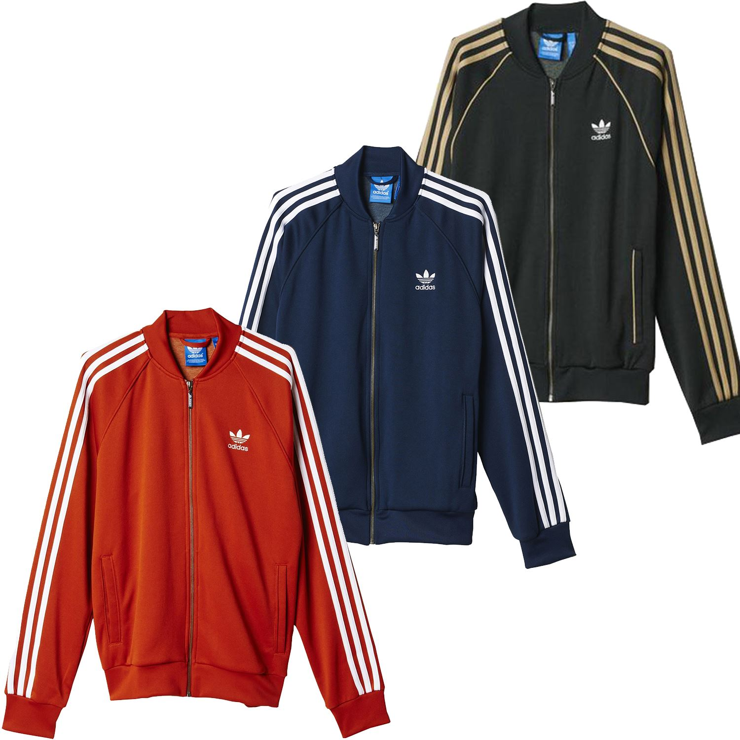 best loved b68bc 04dfd Details about adidas ORIGINALS SUPERSTAR TRACK TOP GREEN RED NAVY RETRO RUN  DMC CASUALS MEN S