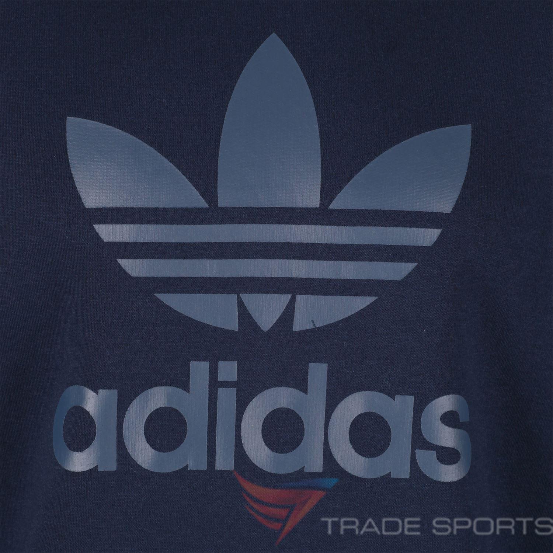 Adidas-Originals-Trefoil-Hoodie-navy-weiss-Groessen-S-M-L-XL-Pullover-Herren-Warm Indexbild 3