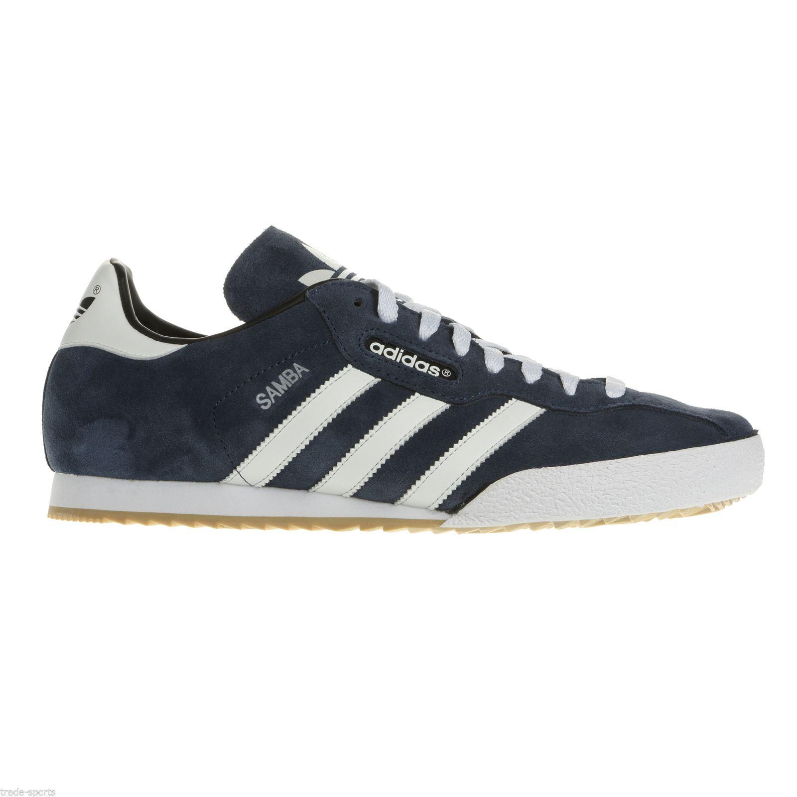 quality design 6ff1f 6b86c scarpe da ginnastica scarpe calcio blu ADIDAS ORIGINALS NAVY SAMBA SUPER  uomo scarpe da ginnastica