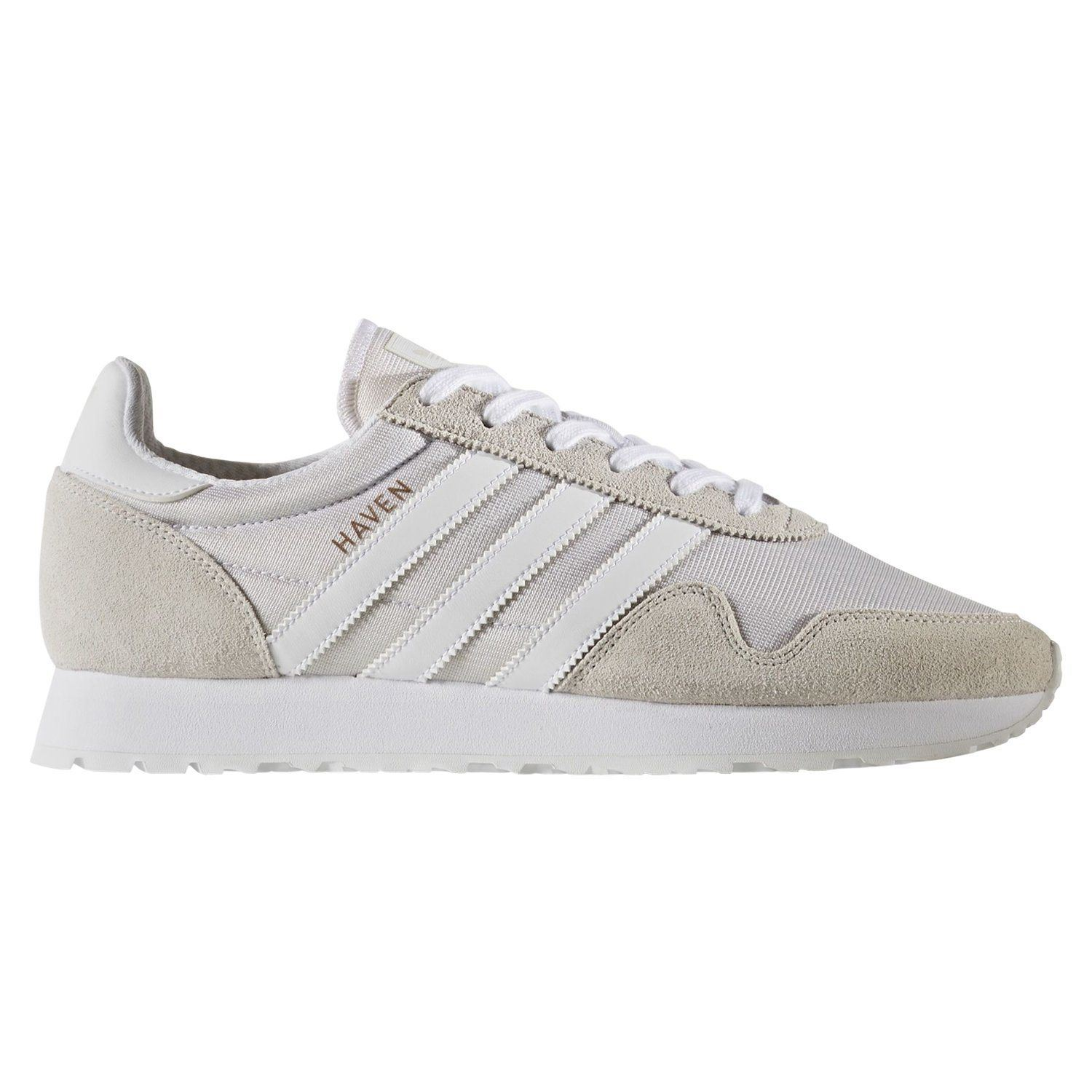 07e2bd3ffe6559 adidas ORIGINALS MEN S HAVEN TRAINERS WHITE SHOES SNEAKERS RETRO RUNNING NEW