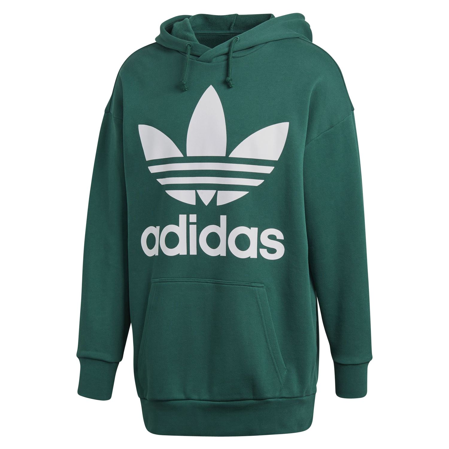 56a138cfb59 adidas ORIGINALS MEN'S TREFOIL OVERHEAD HOODIE GREEN RETRO PULLOVER GYM WARM
