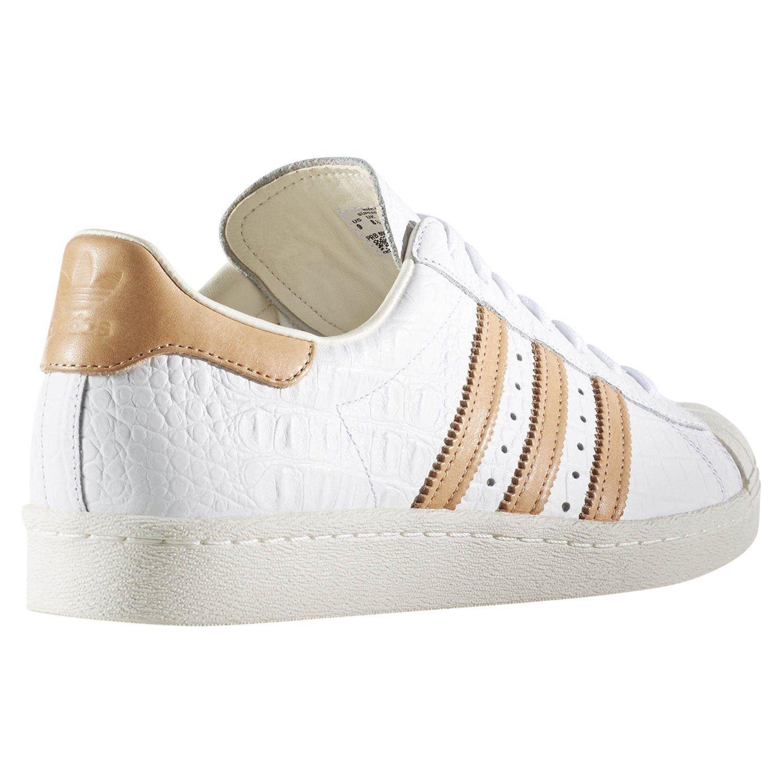 Adidas ORIGINALS Herren SUPERSTAR 80er Jahre Trainer weiße Schuhe  Turnschuhe Retro-selten 7c29ddf6e6