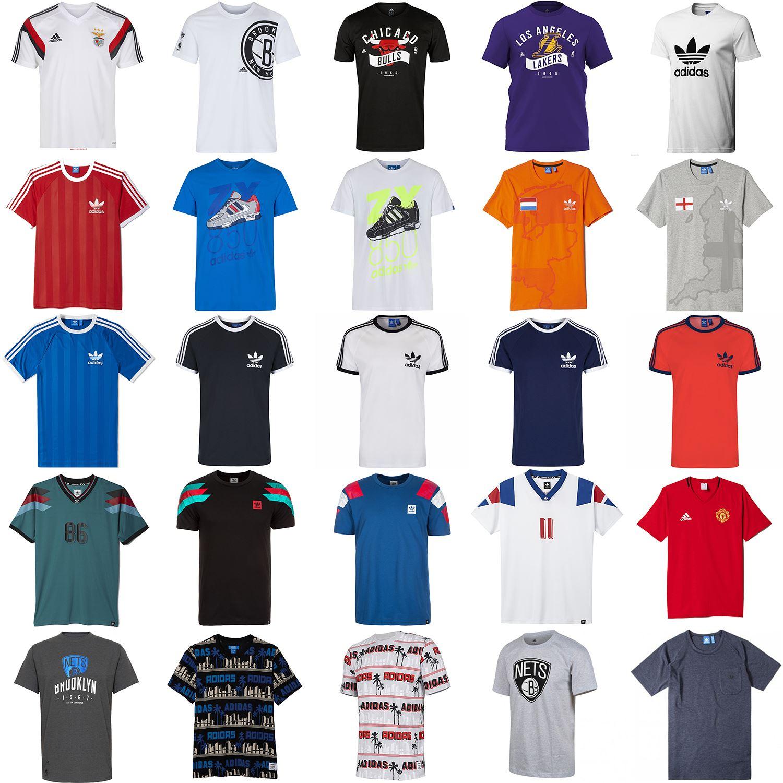 Details about Adidas HERREN Rundhals T Shirt Baumwolle Sports Mode Original Essentials Sommer