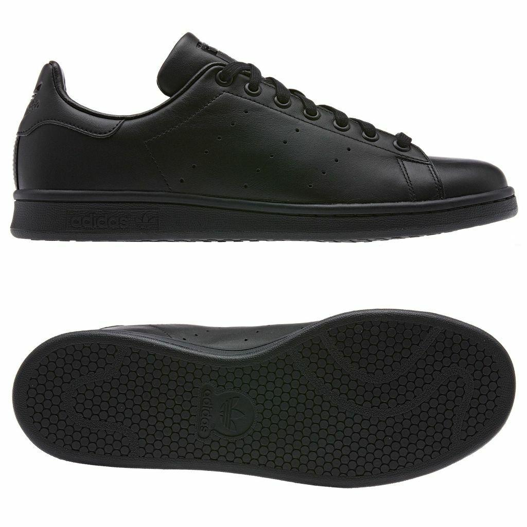 Détails sur ADIDAS ORIGINALS STAN SMITH Baskets Bleu Marine Vert Noir Blanc Rétro Chaussures de Tennis afficher le titre d'origine