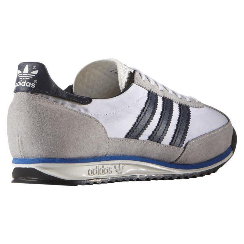 Adidas-Homme-ORIGINALS-SL-72-Vintage-Baskets-Marine-Noir-Blanc-Baskets-Chaussures miniature 16