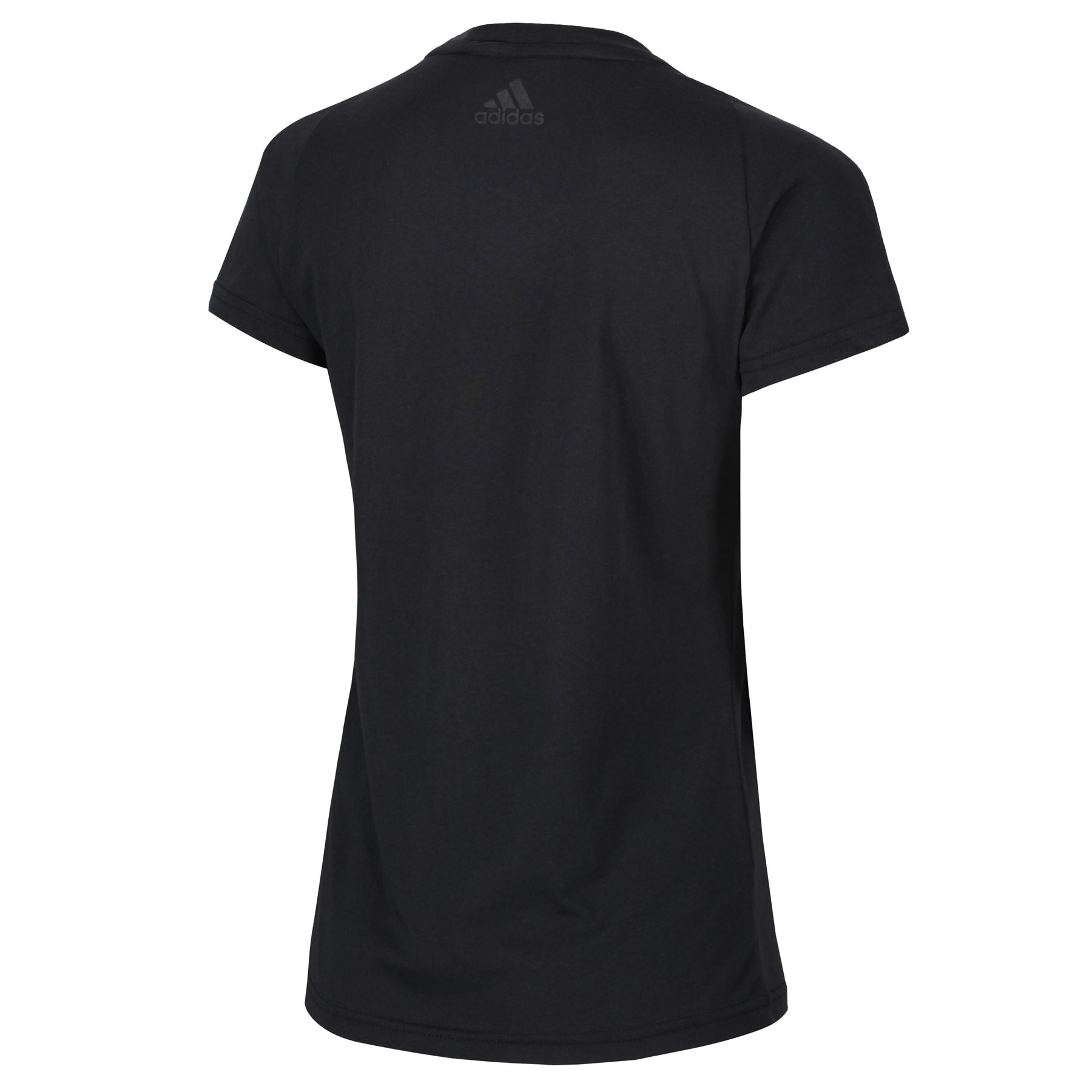 adidas-WOMEN-039-S-ESSENTIALS-LINEAR-T-SHIRT-GYM-BLACK-PINK-WHITE-NAVY-GIRLS-LADIES thumbnail 8
