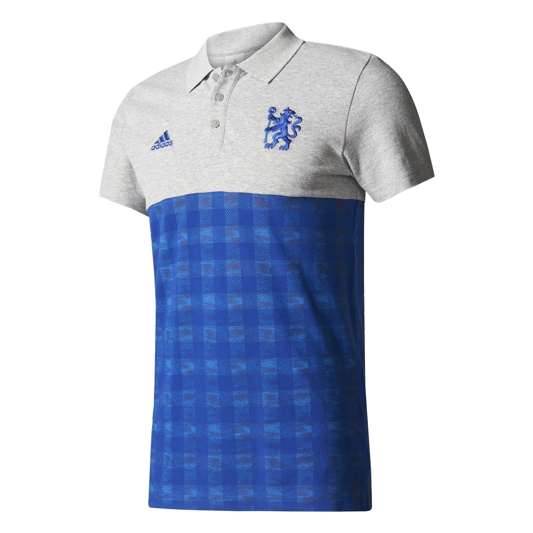 0da8aa3012f89 Adidas CHELSEA FC contraste camisa POLO azul gris fútbol SOCCER los hombres  nueva
