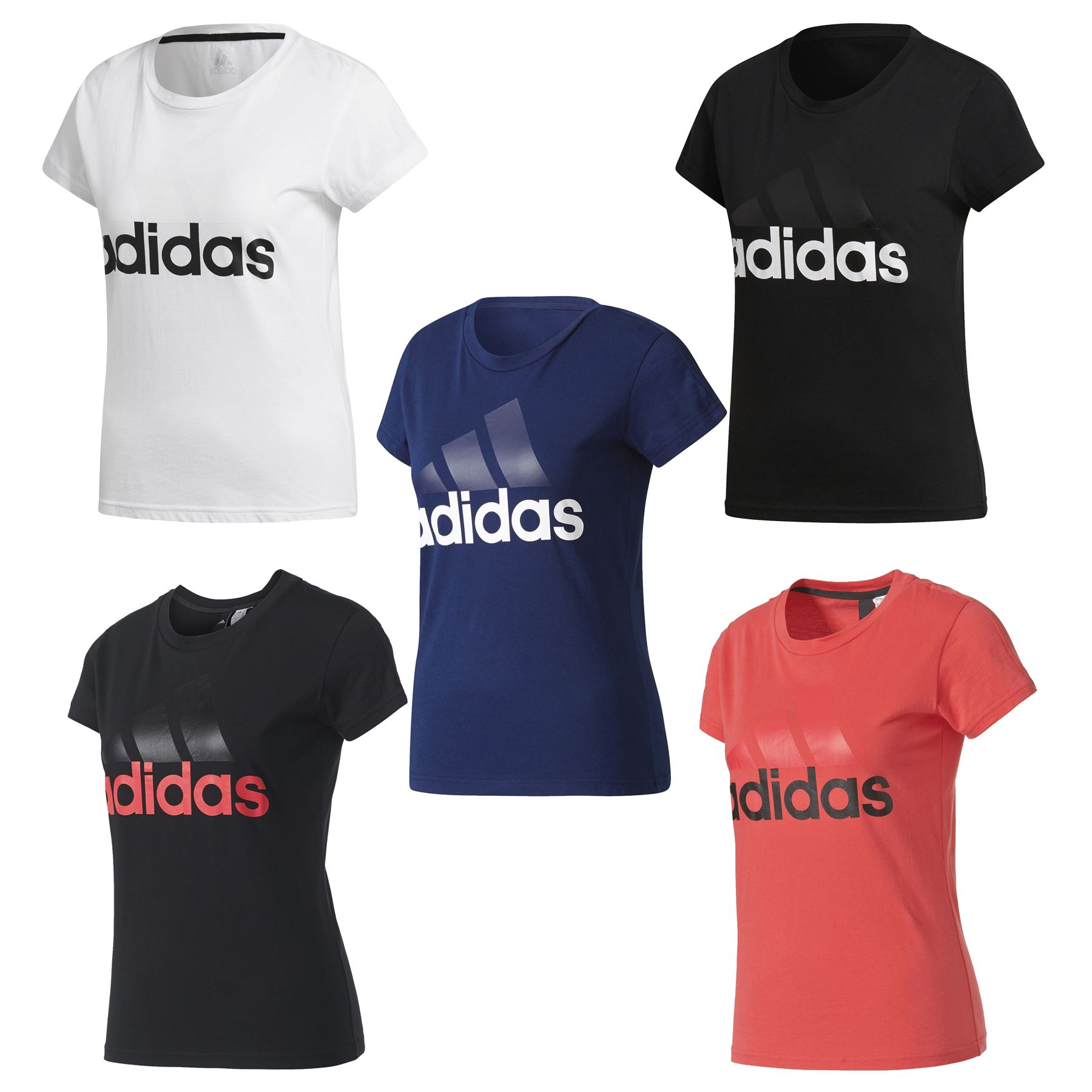 Details about adidas ESSENTIALS LINEAR T SHIRT WOMEN S BLACK WHITE NAVY  PINK GYM RUNNING NEW 73b5764ad1