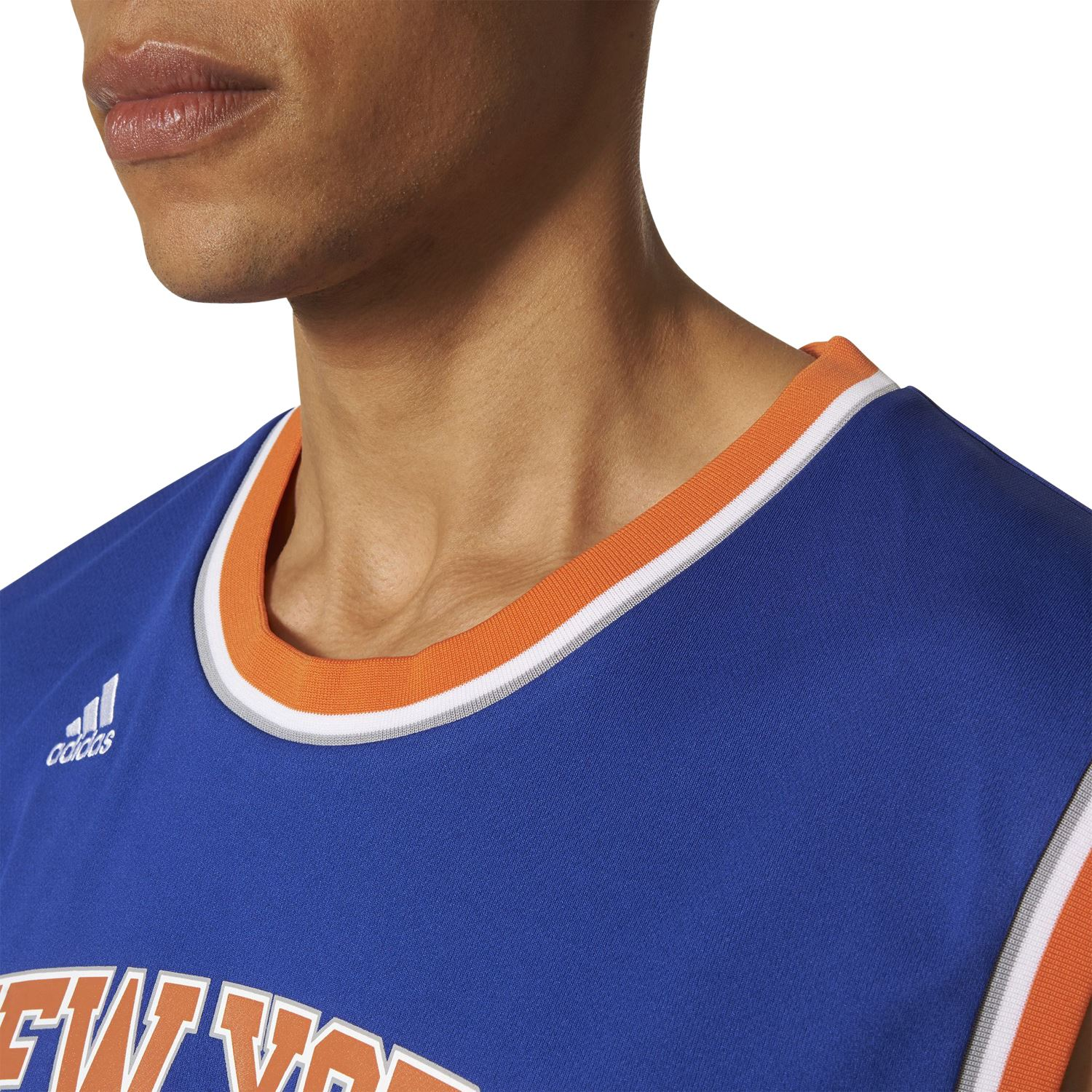 adidas MEN S NEW YORK KNICKS REPLICA JERSEY  25 DERRICK ROSE BLUE RETRO NBA  NEW 81bca4bc4