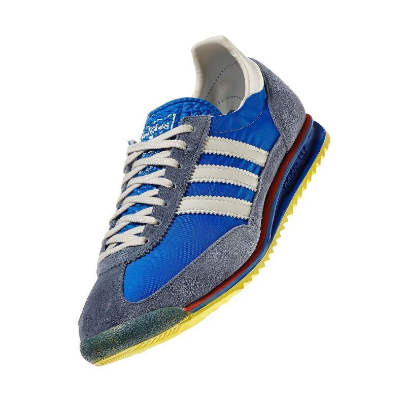 ADIDAS-ORIGINALS-SL-72-Baskets-Retro-Rare-Deadstock-Bleu-Baskets-Chaussures-Kicks miniature 5