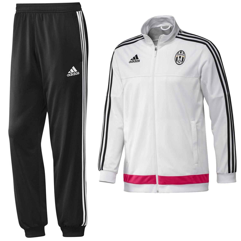 5580273c47ba9 Adidas JUVENTUS completo presentación Chandal blanco negro activo FITNESS  fútbol