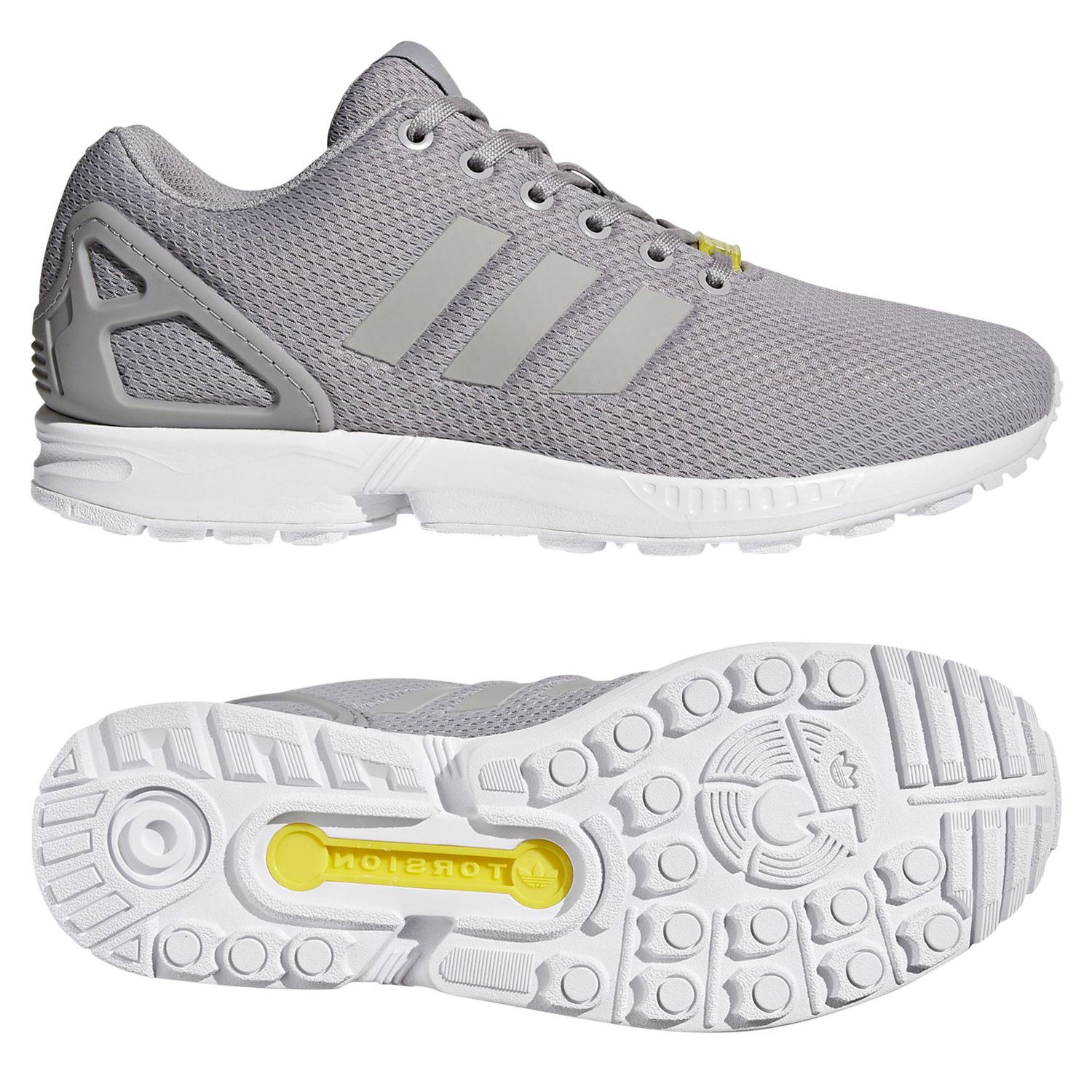 fc652de0b2a2d Details about adidas ORIGINALS MEN S ZX FLUX TRAINERS GREY SNEAKERS SHOES  RETRO 3 STRIPES