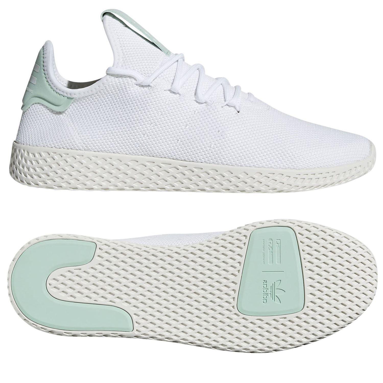 adidas ORIGINALS PHARRELL WHITE WILLIAMS HU TENNIS SHOE TRAINERS WHITE PHARRELL GREEN UNISEX 675080
