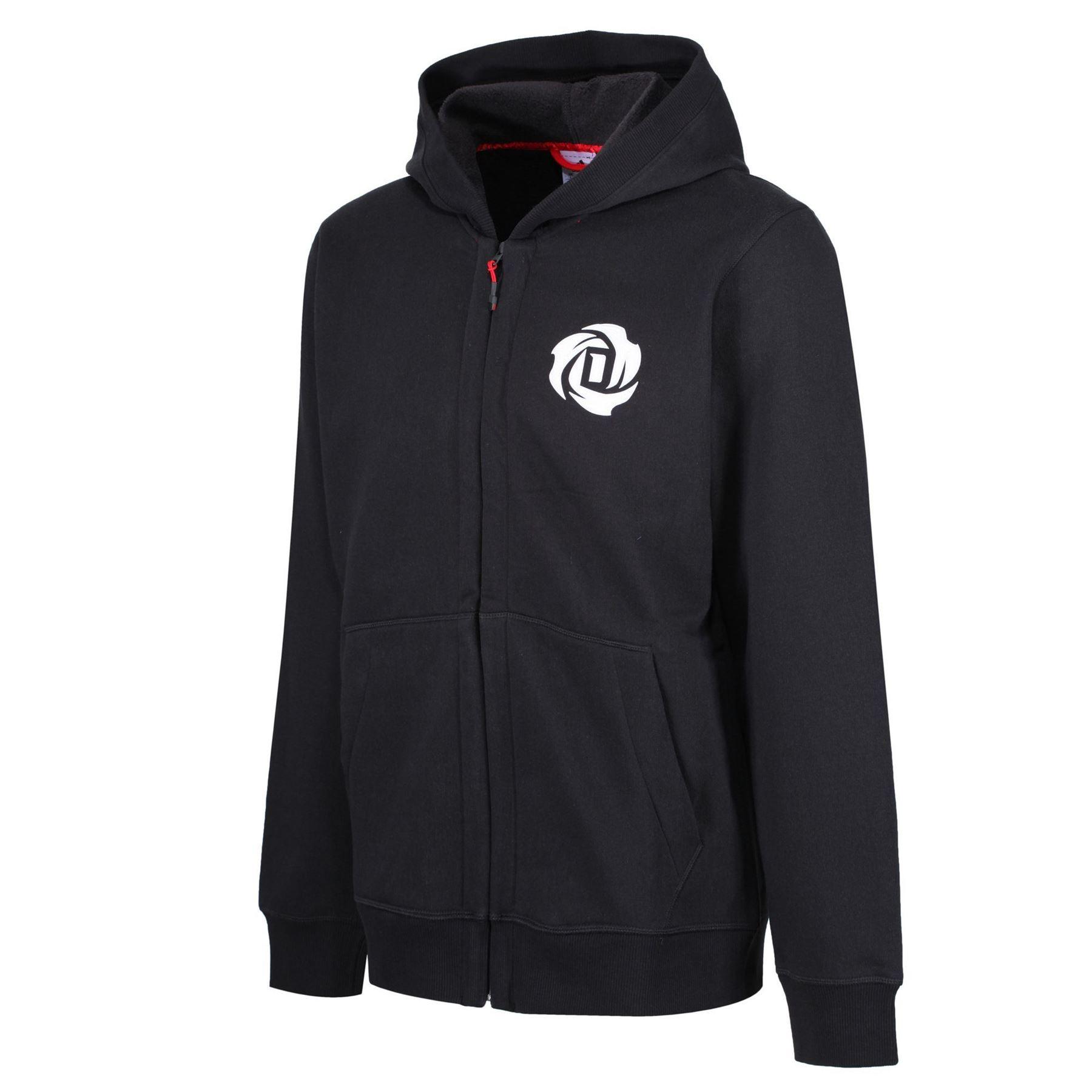 Rose Zip Adidas Derrick L 3xl Black Tall Basketball Men's About Hoodie Sizes Details Full OPXn0kN8w