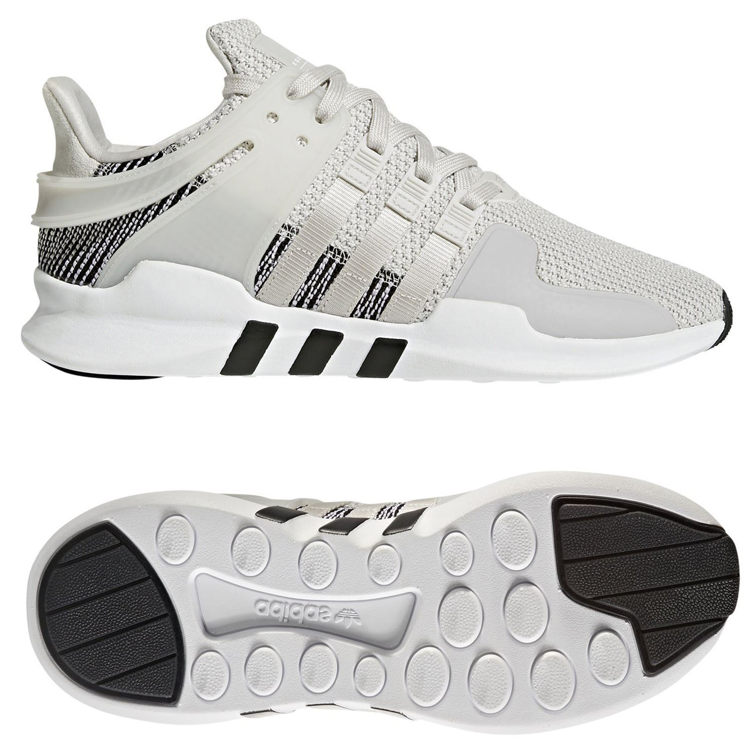 adidas MEN S EQT SUPPORT ADV TRAINERS WHITE SHOES SNEAKERS RUNNING 3  STRIPES GYM 36e2ef0698d57