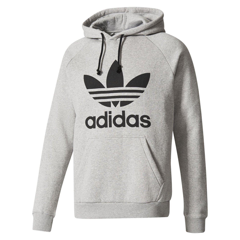 Adidas ORIGINALS Herren TREFOIL HOODIE grau PULLOVER Kapuze WARM CONFY  WINTER neu 749b31d397