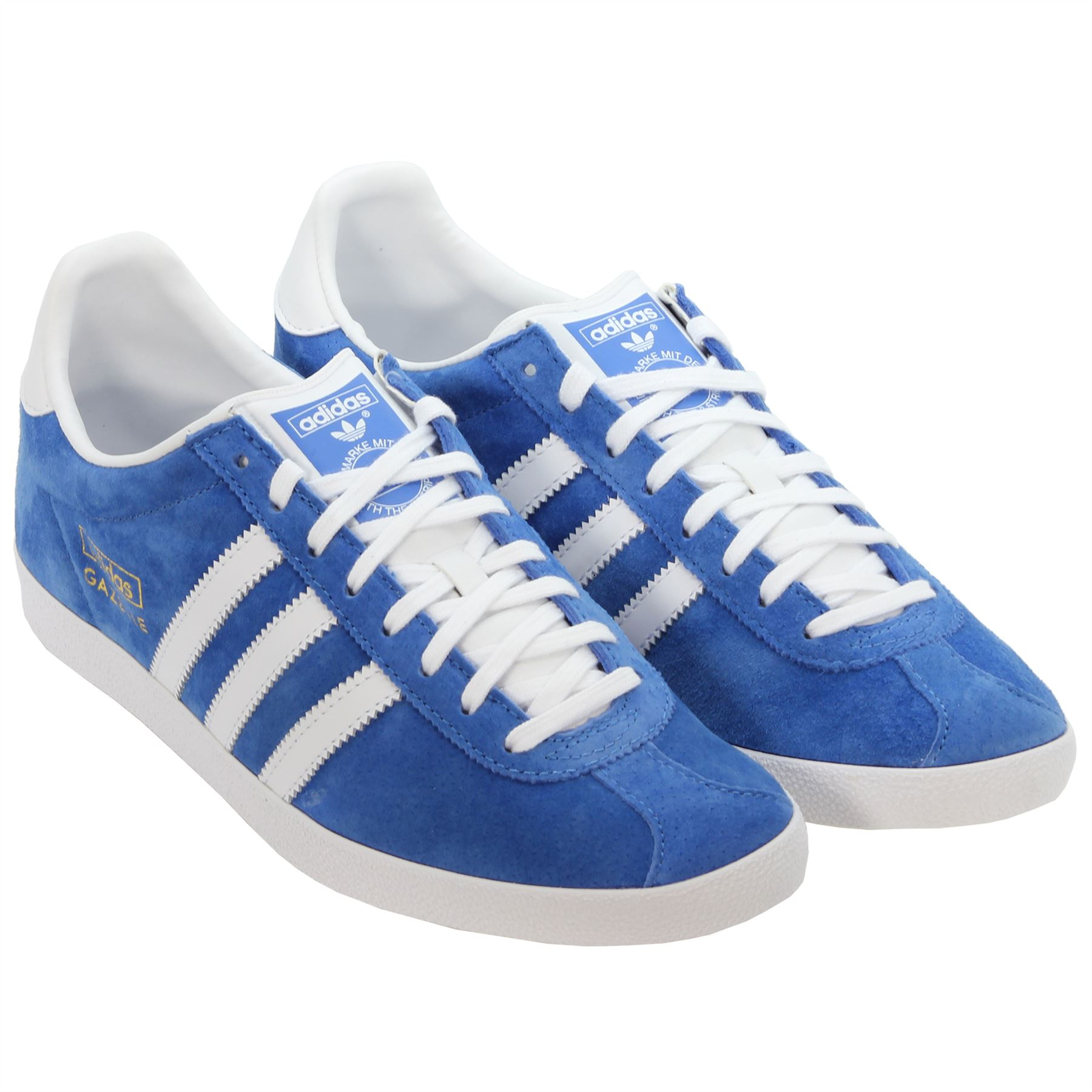 Adidas Gazelle Og Trainers Sneakers Originals Suede Red Blue Black Item Description