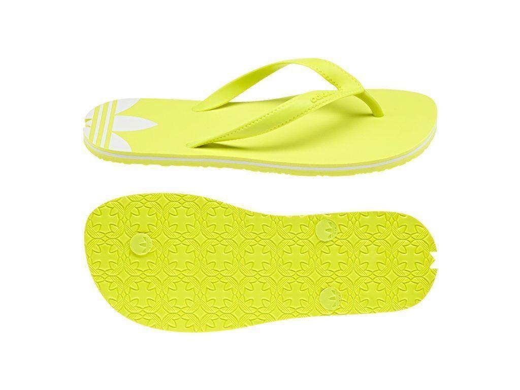 2850219a0 adidas ORIGINALS WOMEN S ADISUN FLIP FLOPS YELLOW GIRLS BEACH POOL SUMMER  THONGS