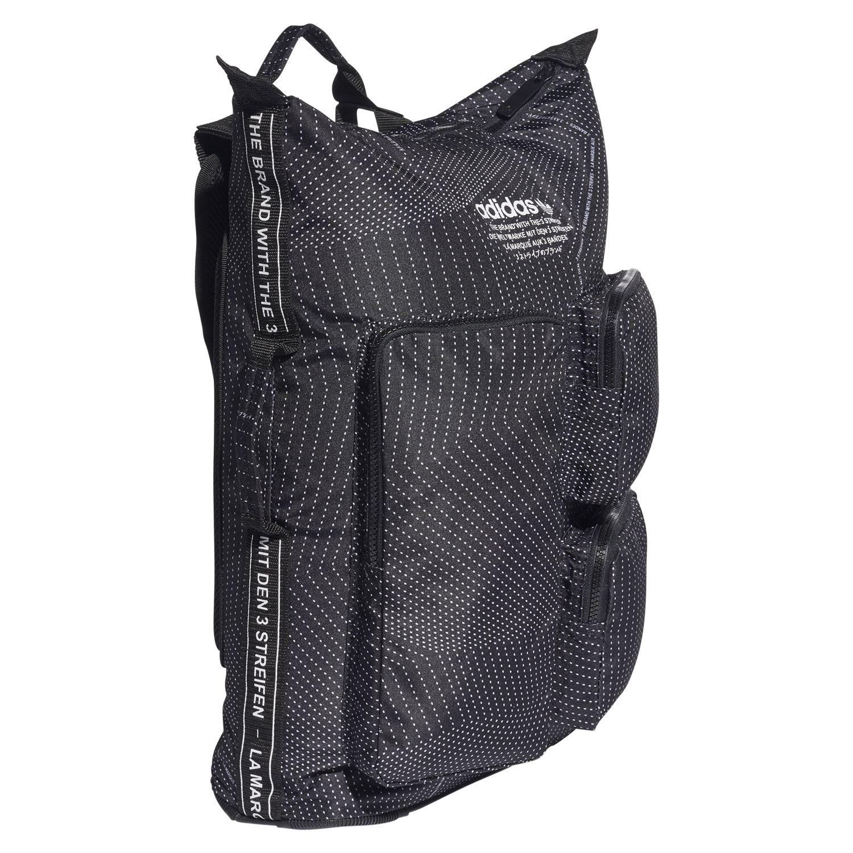 0f50fc39da44 adidas ORIGINALS MEN S NMD DAY BACKPACK RUCKSACK BAG BLACK GREY SCHOOL  COLLEGE