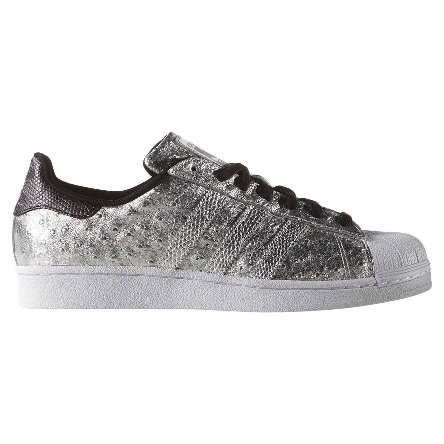 best sneakers af4ab a6096 Details about adidas ORIGINALS MEN'S SUPERSTAR TRAINERS SILVER SHOES  SNEAKERS RARE SNAKESKIN