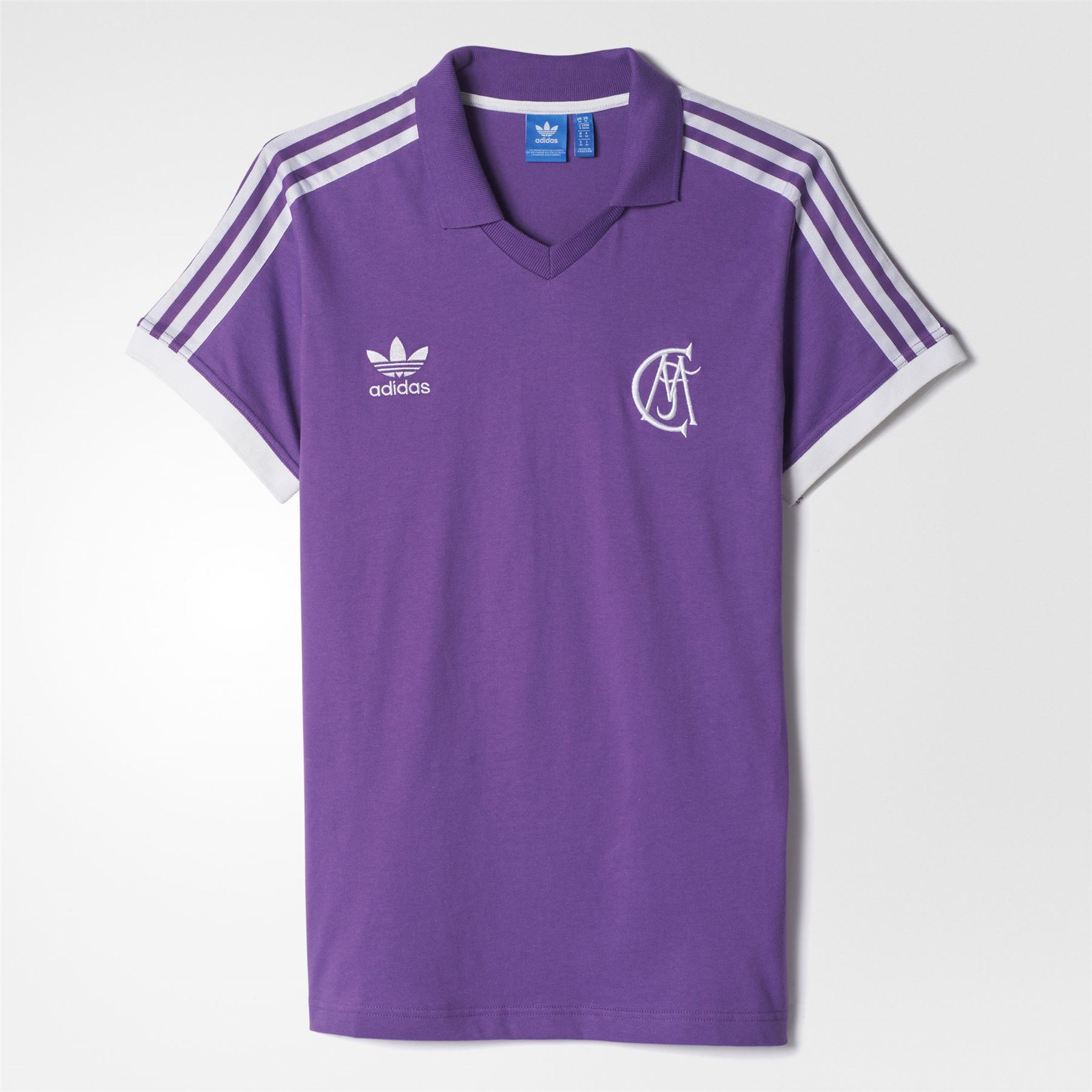 1cac6c675 adidas RETRO REAL MADRID FOOTBALL JERSEY PURPLE SPANISH SOCCER MEN S  DEADSTOCK
