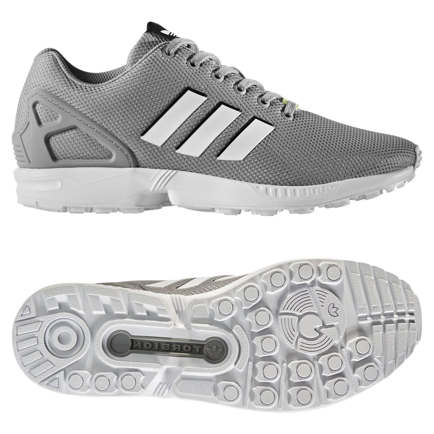 the best attitude 0df56 2f567 Details about adidas ORIGINALS MEN S ZX FLUX TRAINERS GREY SNEAKERS SHOES  RETRO RUNNING