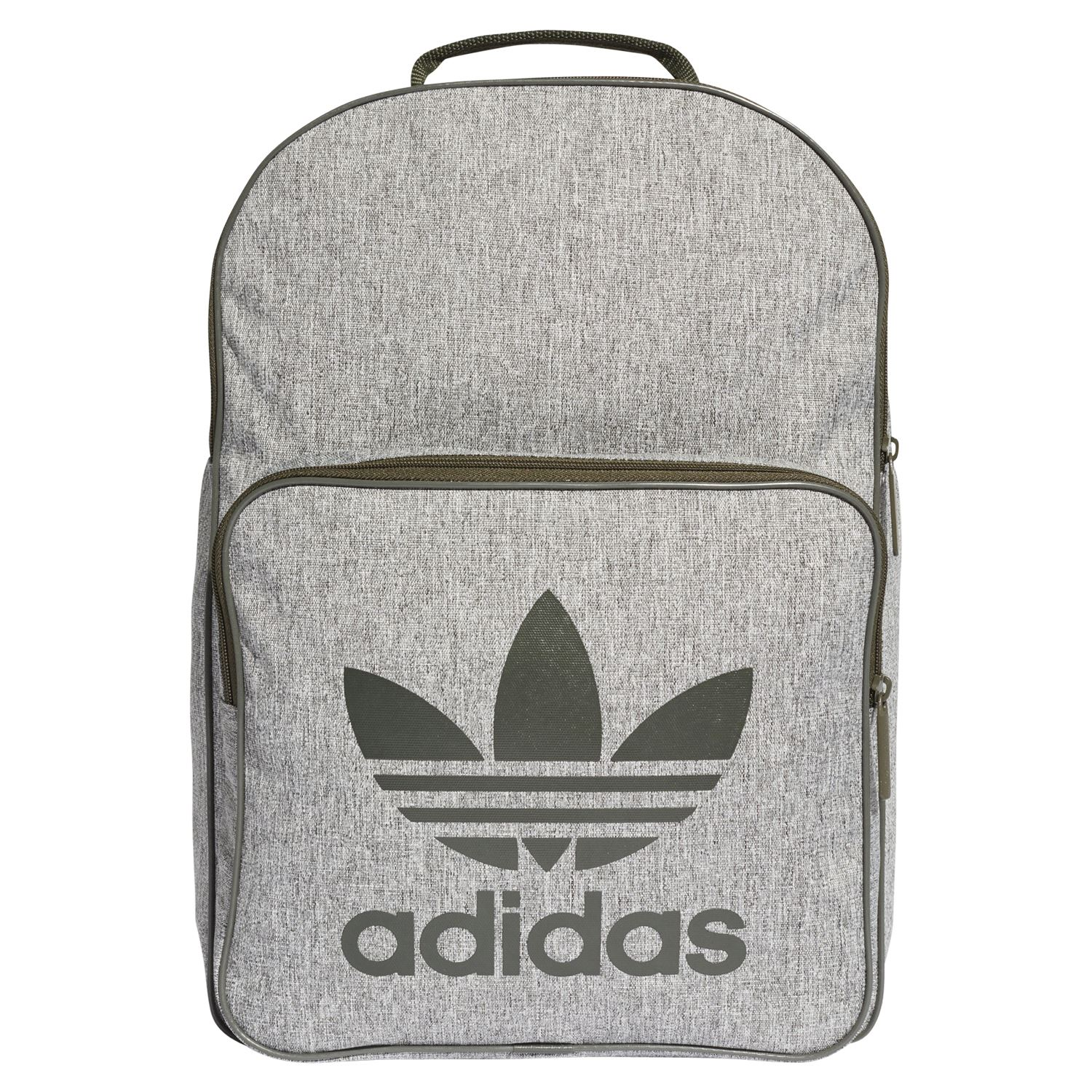 a361e0a60 Details about adidas ORIGINALS CLASSIC TREFOIL BACKPACK GREY GREEN BACK TO  SCHOOL COLLEGE