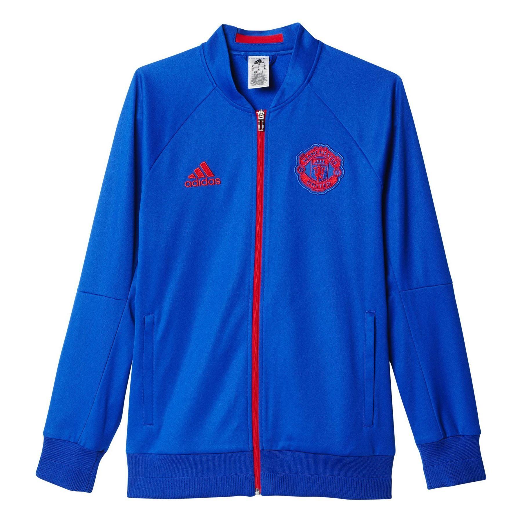 Adidas MANCHESTER UNITED lejos himno chaqueta azul pista superior fútbol  nuevo rojo bc5b4fe90575b