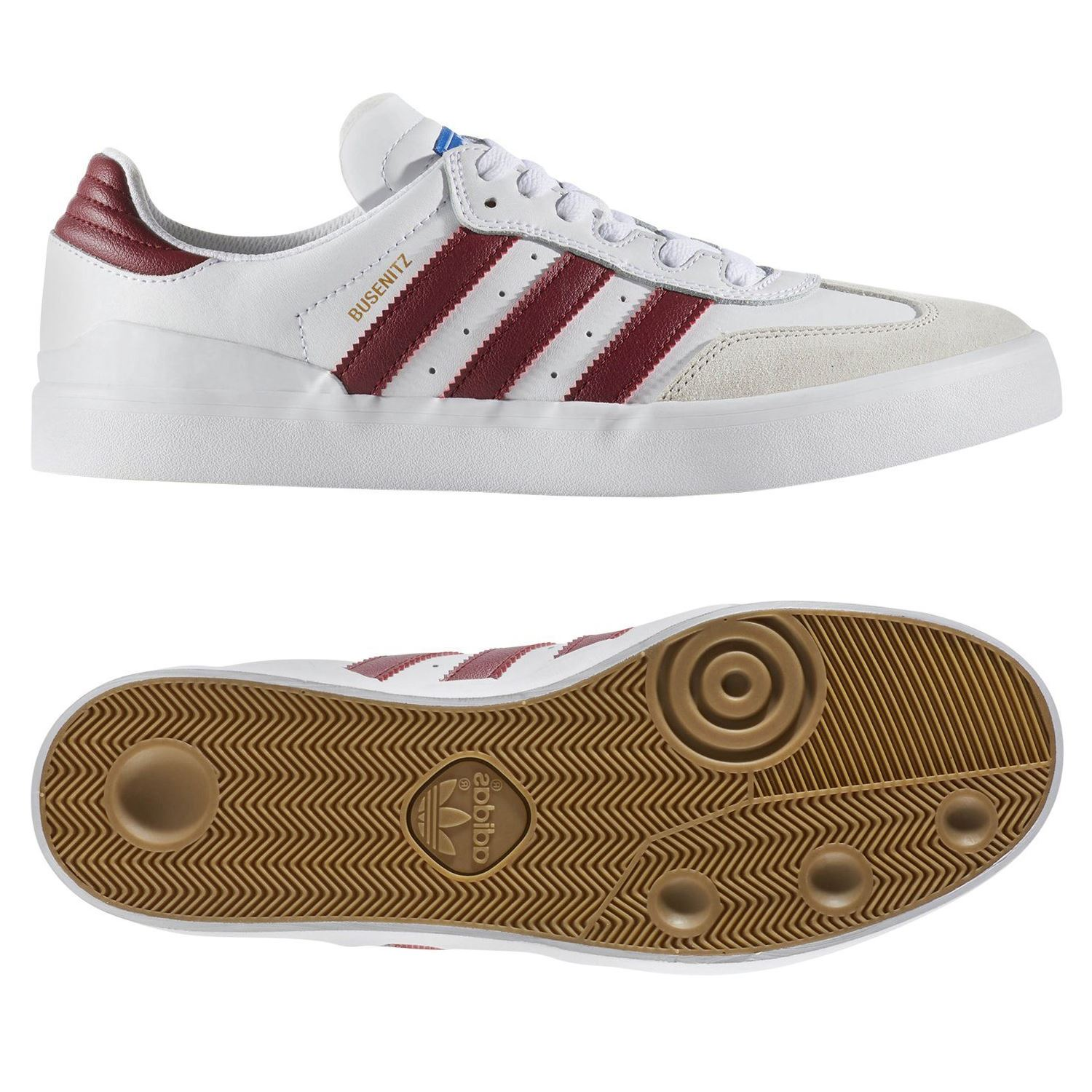 best loved 02bce a6106 Details about adidas Originals MENS BUSENITZ RX TRAINERS WHITE  SKATEBOARDING SHOES SNEAKERS