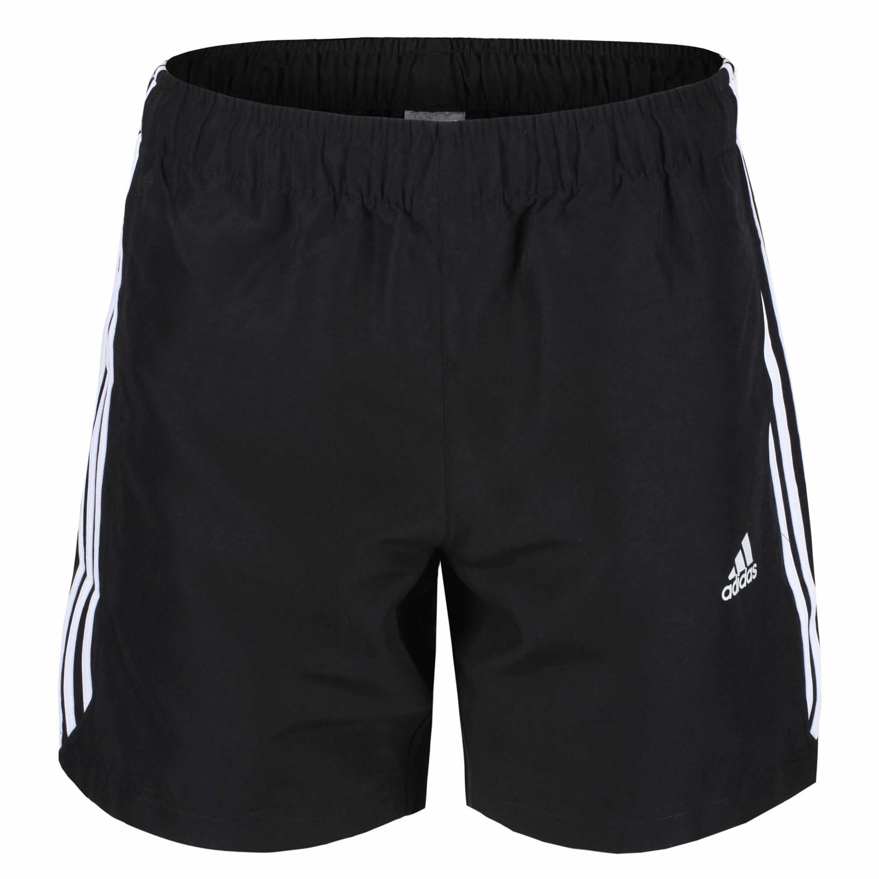 Adidas ESSENTIALS 3 STRIPE CHELSEA SHORTS Herren schwarz weißen CLIMALITE  GYM 5e8876ae5c