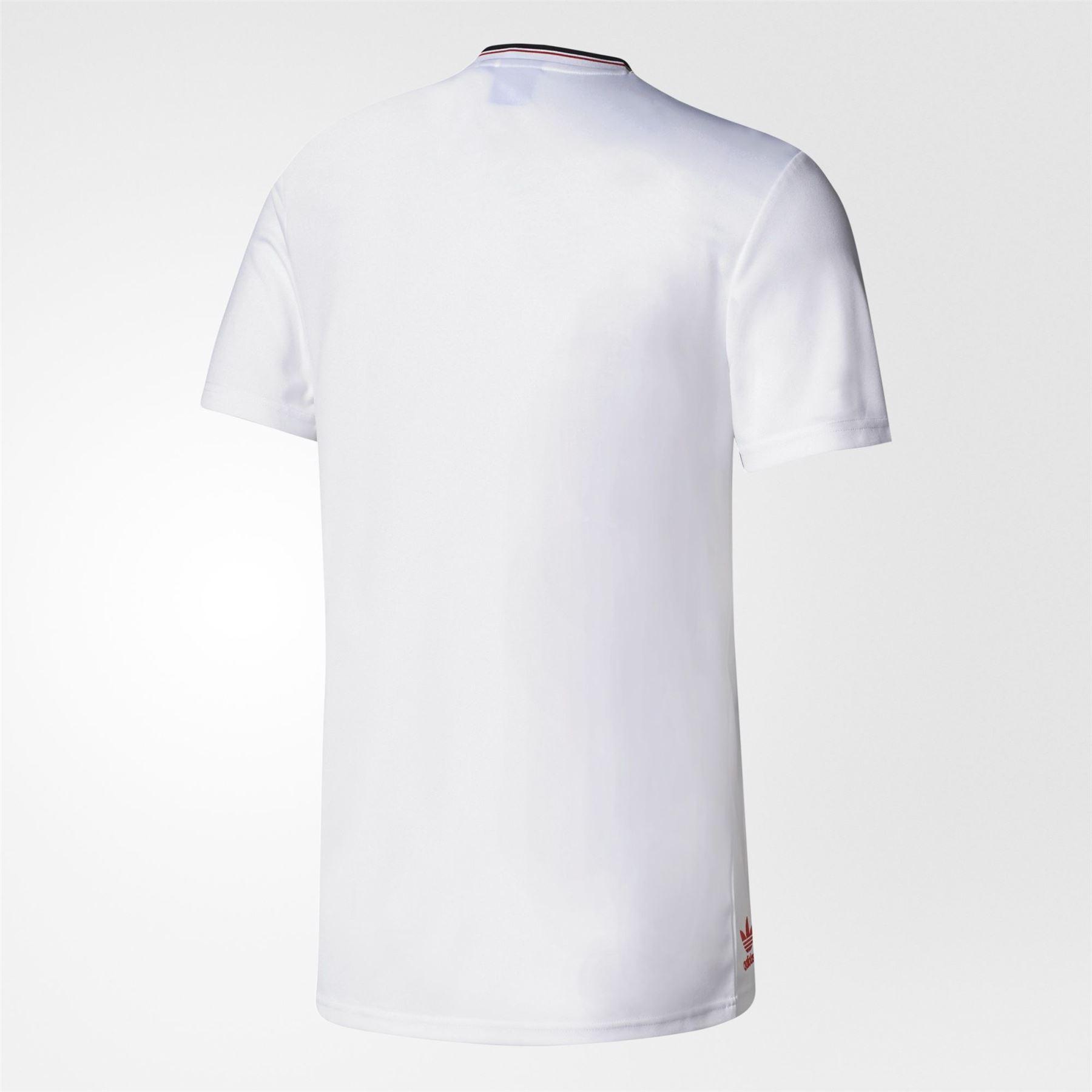 1e0b78b09 adidas ORIGINALS MANCHESTER UNITED RETRO T SHIRT WHITE RETRO 80S 90S NEW  MEN S