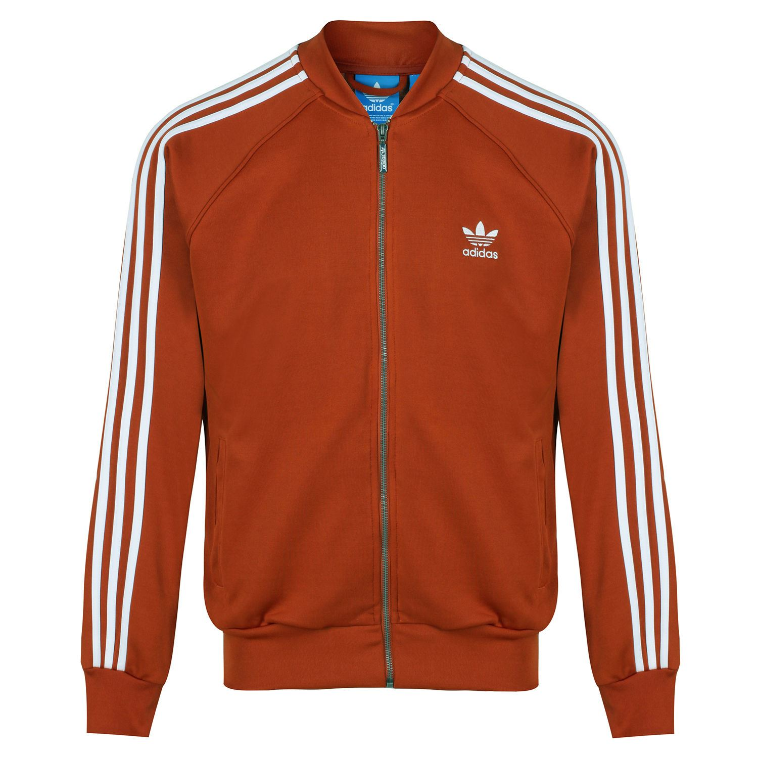 official photos 8a442 4a74b adidas ORIGINALS SUPERSTAR TRACK TOP GREEN RED NAVY RETRO RUN DMC CASUALS  MEN S