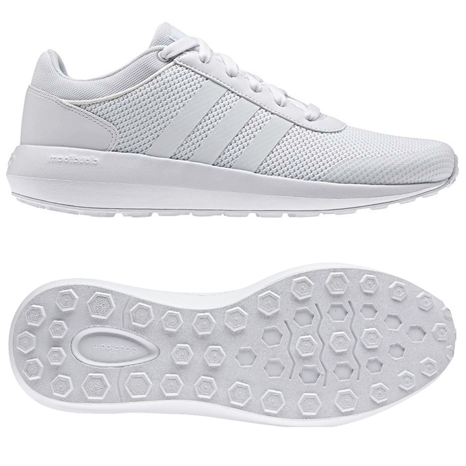 half off 943dc 21313 Details about adidas NEO CLOUDFOAM RACE TRAINERS MENS SHOES RUNNING UK  SIZES 7.5 - 12 FITNESS