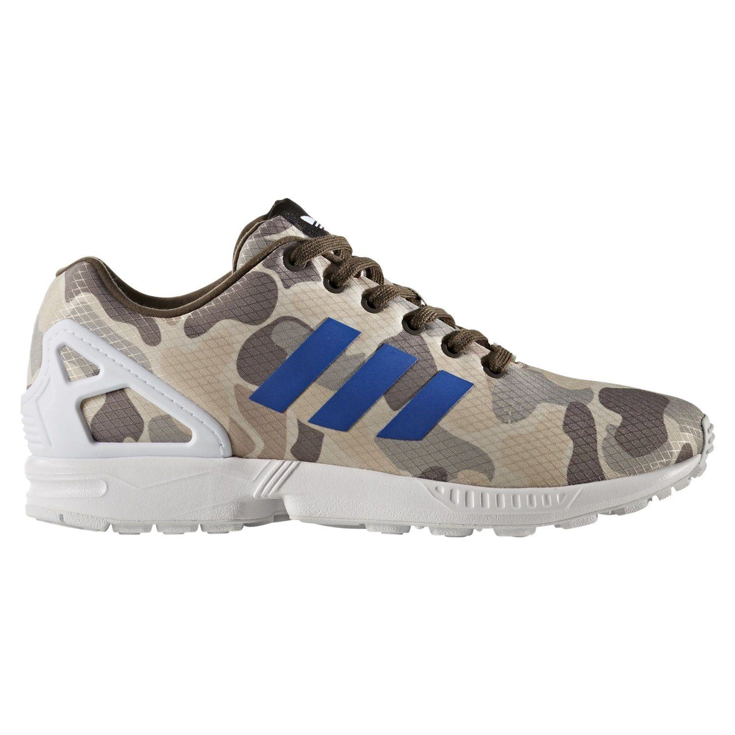 reputable site 9a7fe 6a22f Details about adidas ORIGINALS MEN S ZX FLUX TRAINERS MULTI CAMO SNEAKERS  SHOES RUNNING COMFY