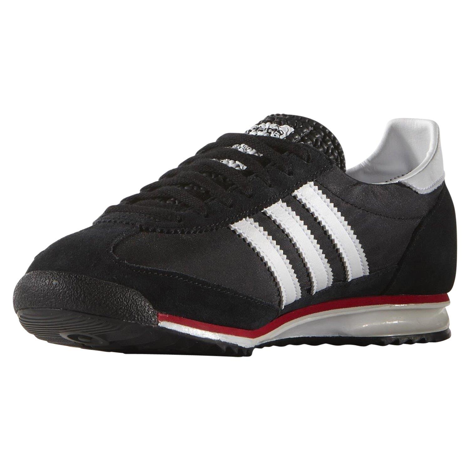 adidas-ORIGINALS-MEN-039-S-SL-72-VINTAGE-TRAINERS-BLACK-NAVY-WHITE-SNEAKERS-SHOES miniatuur 5