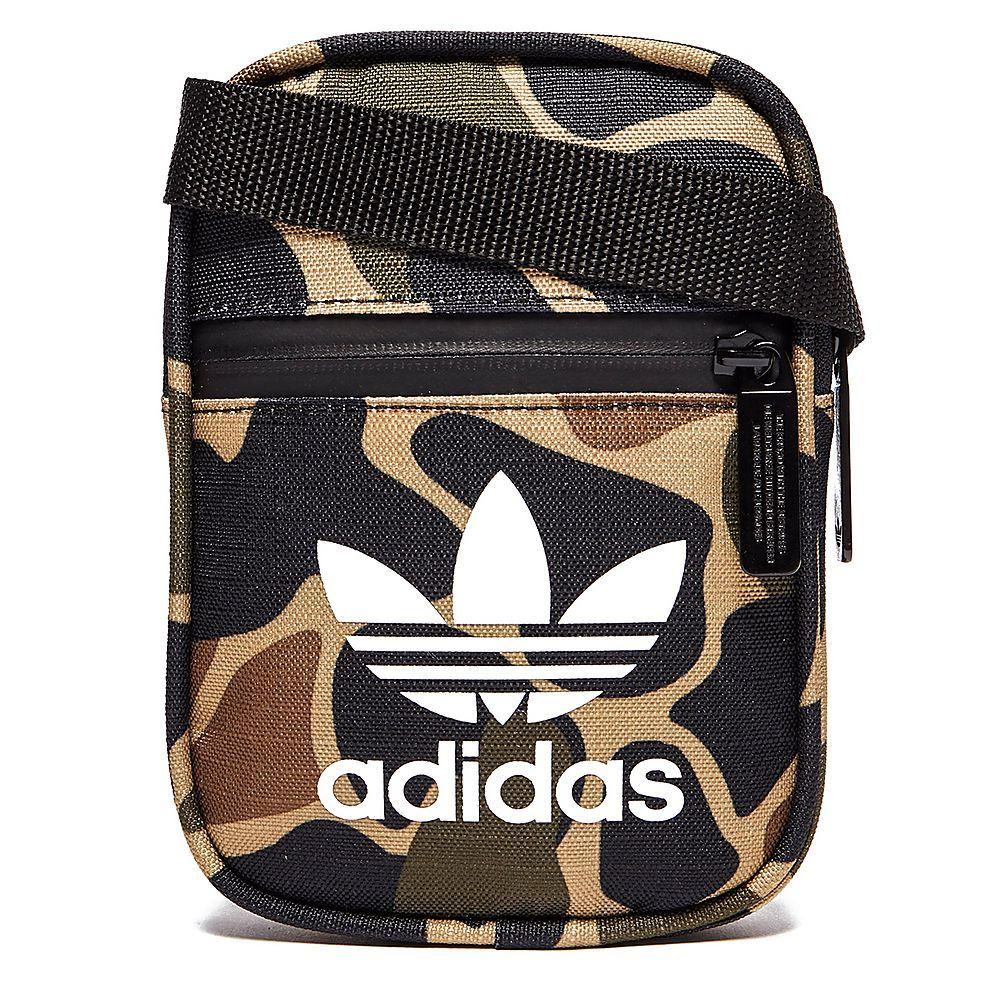 adidas ORIGINALS MEN/'S MINI FESTIVAL BAG MULTI CAMO TREFOIL HOLIDAYS KEYS CASH