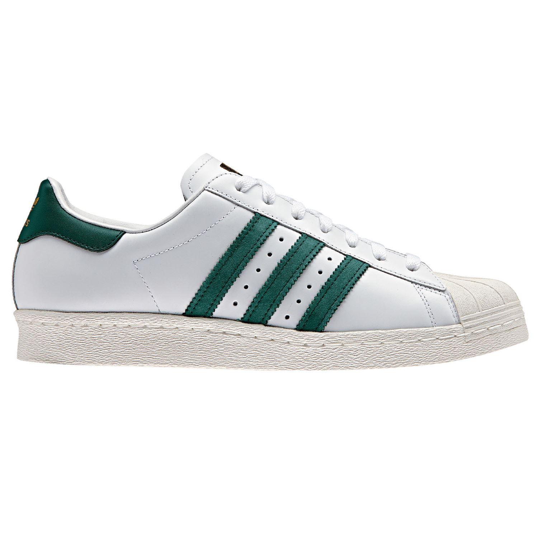 half off e2c97 582df ... australia adidas originals superstar 80 s formateurs blanc vert  chaussures baskets retro 3b976 436b5 ...