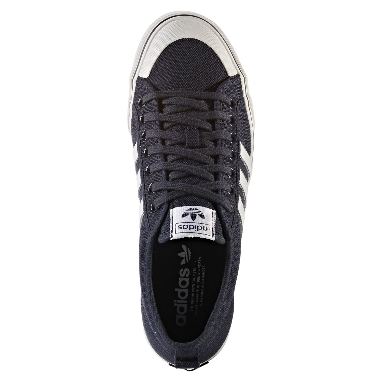 online store 9a83f 69f8b ADIDAS ORIGINALS NIZZA tela formatori NAVY SNEAKERS Scarpe Skateboard uomo