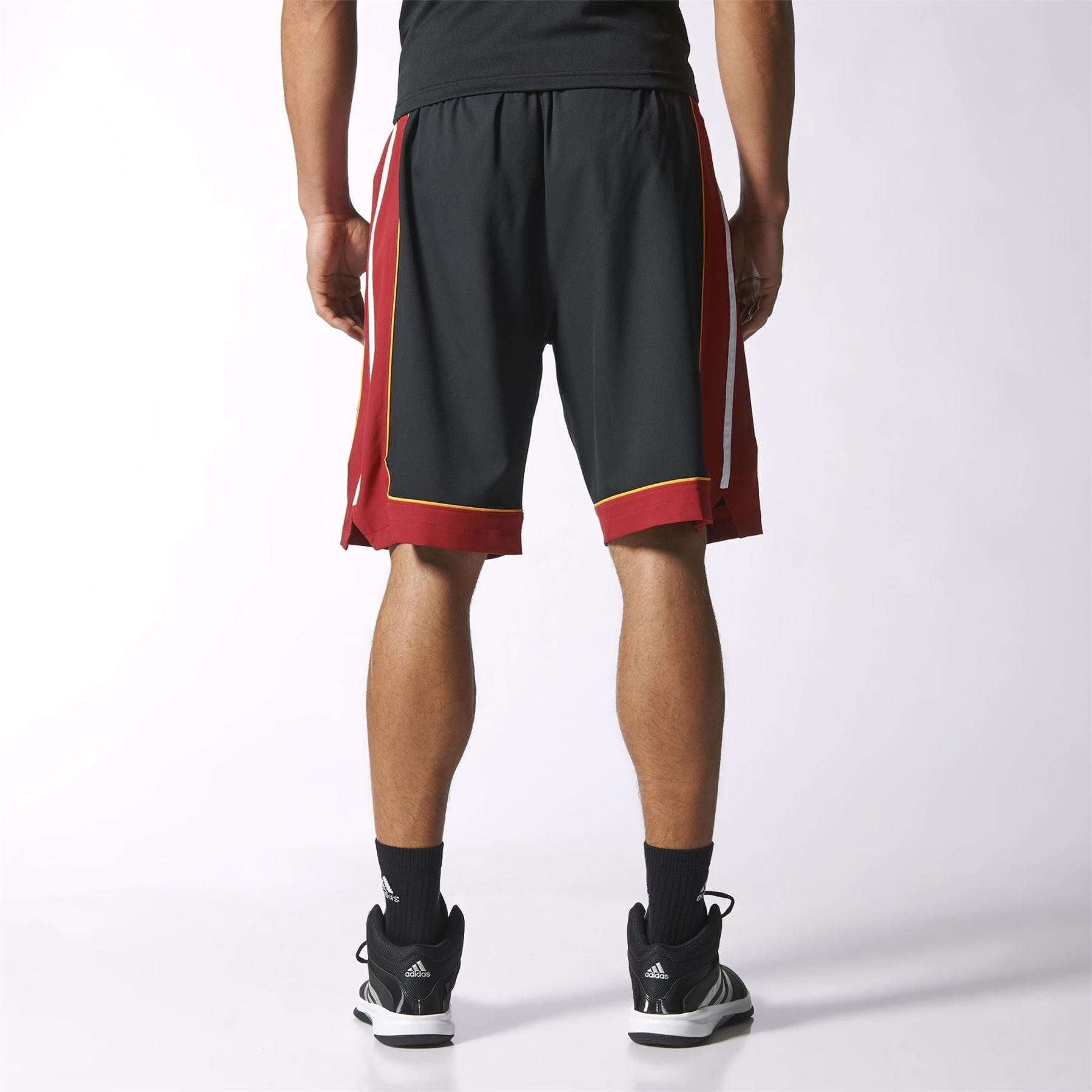 adidas MIAMI HEAT INTERNATIONAL NBA SWINGMAN SHORTS BLACK BASKETBALL MEN S 756a67784f93