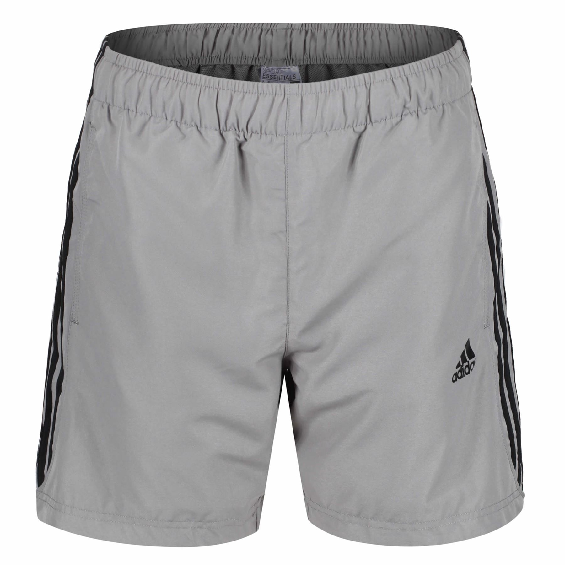 Adidas Essential 3 Stripe Shorts Mens Original Climalite Gym Shorts