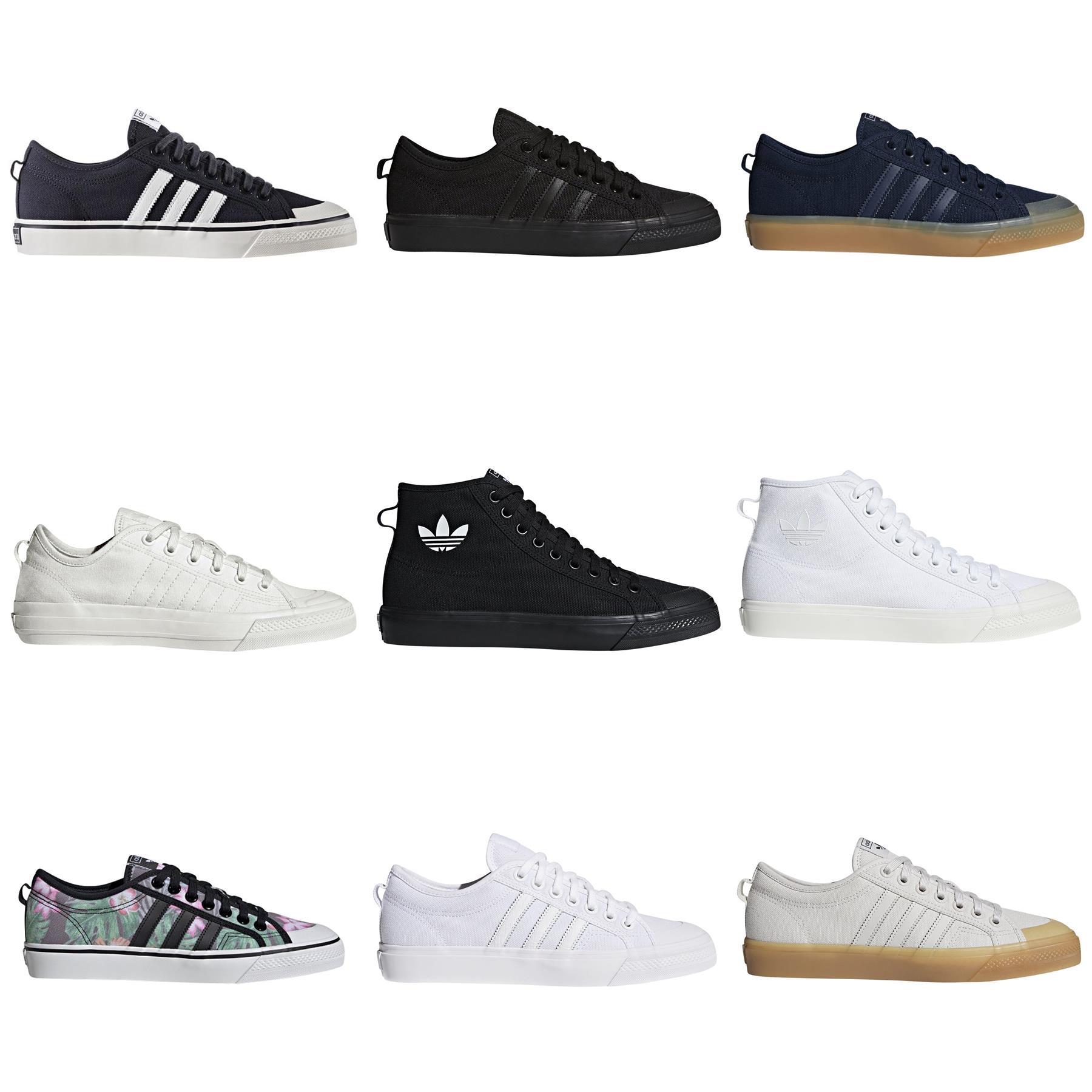 adidas ORIGINALS NIZZA LO HI RF TRAINERS SKATEBOARDING SHOES ...