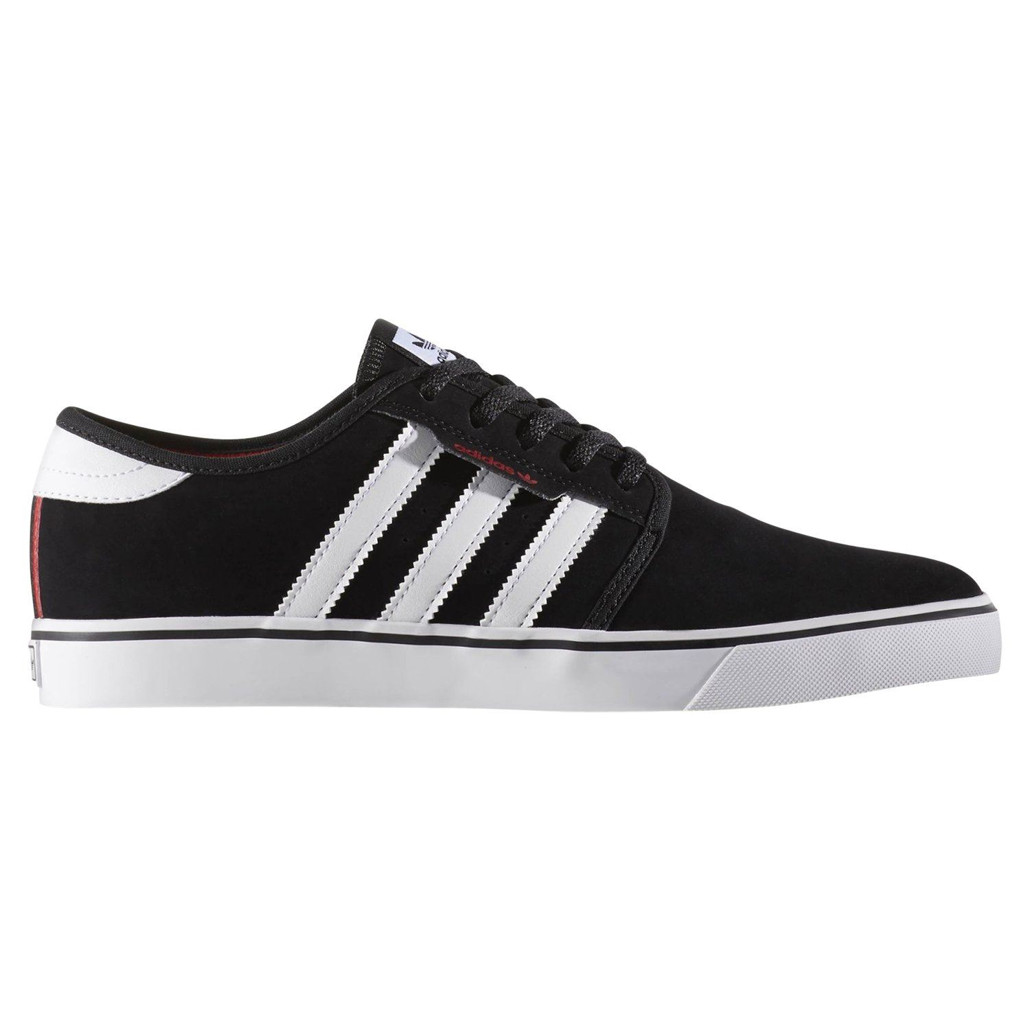new product d11e9 911ab adidas ORIGINALS MEN S SEELEY SKATE TRAINERS BLACK SNEAKERS SHOES  SKATEBOARDING