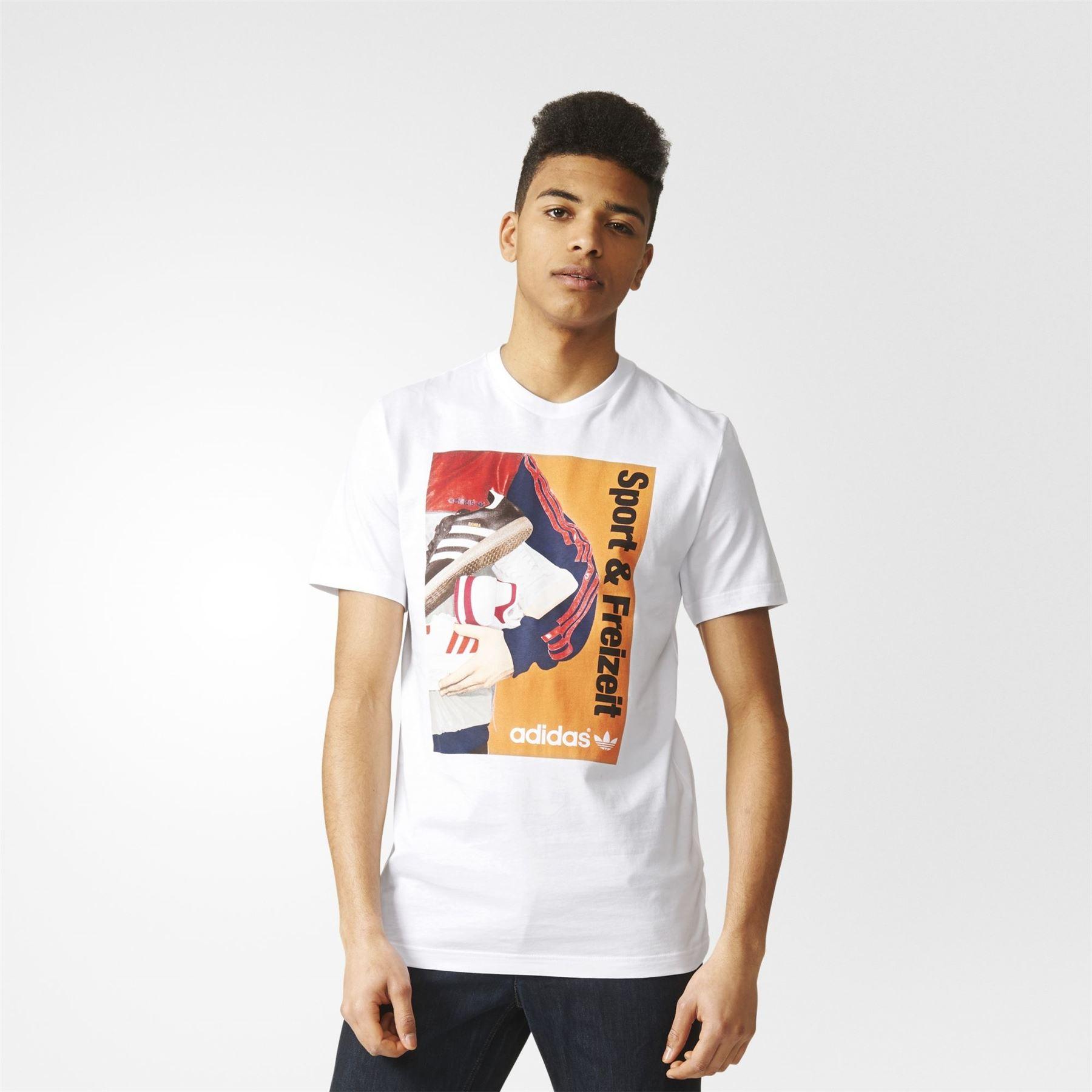 Catalogue Homme Shirt T Original' De Photo Blanc Adidas 70s Cou Ras 7E1wfn