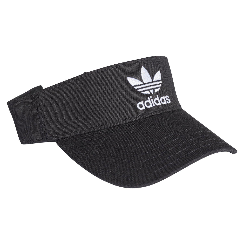 Prueba Inspeccionar Maravilla  Adidas Originals HOMBRE Adicolor Visera Gorra Negra Blanco Trébol Verano  Retro   eBay